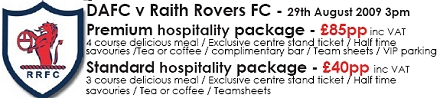 Raith Rovers Match Hospitality