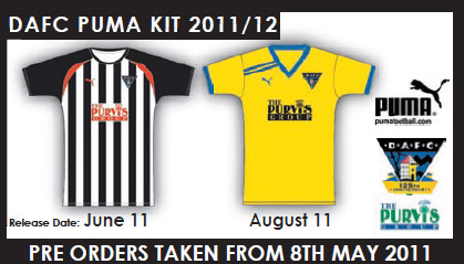 Dunfermline Athletic Strips 2011-12