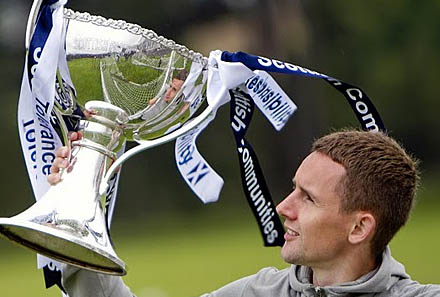 Paul Burns eyes up  the Scottish Communities Cup
