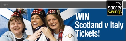 Win Tickets to see Scotland v Italy