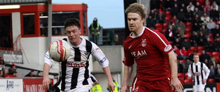 Joe Cardle for Dunfermline v Aberdeen