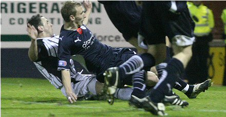Second goal v Raith Rovers