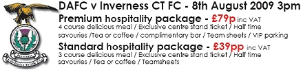 Inverness Caley Thistle Match Hospitality