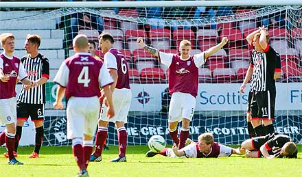 Penalty awarded to Arbroath